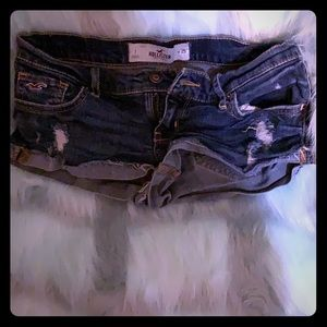 Hollister extra cheeky mini jean shorts